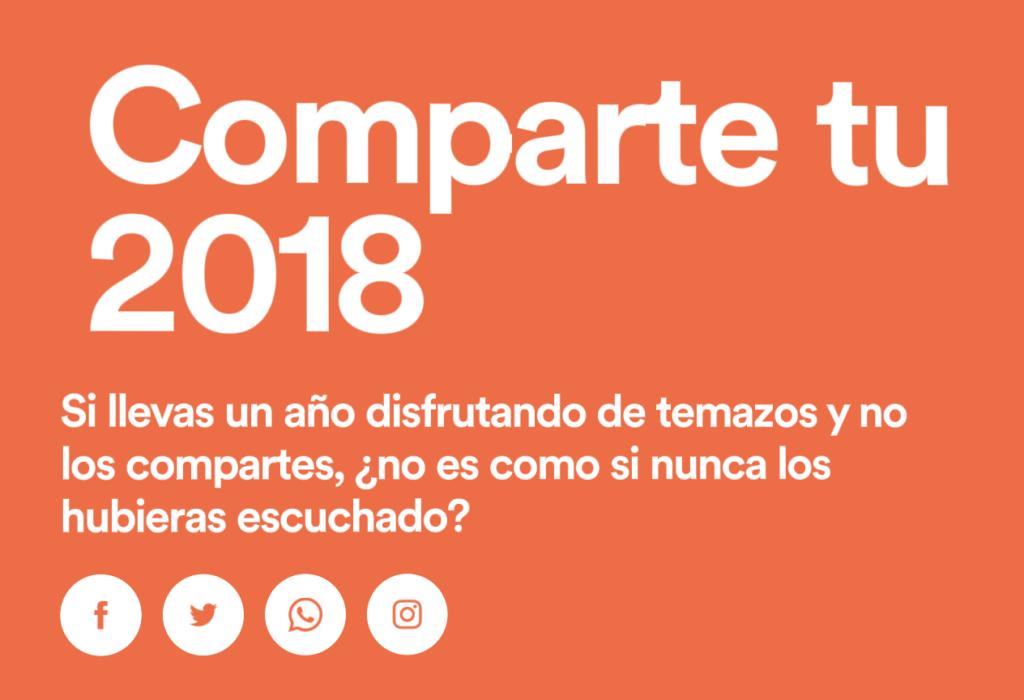 Spotify 2018 compartir