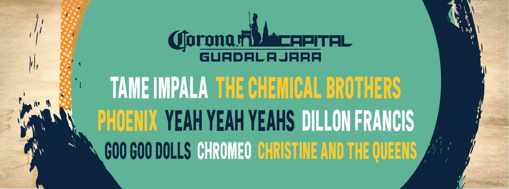 Lineup Corona Capital GDL 2019
