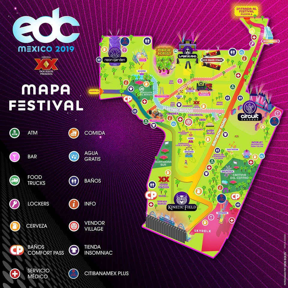 EDC México mapa y escenarios