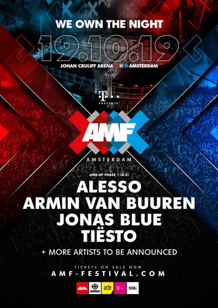 Amsterdam Music Festival Lineup Fase 1