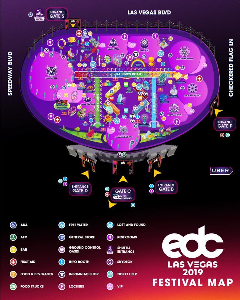 EDC LAS VEGAS MAP