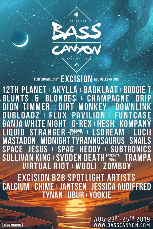 Line Up Bass Canyon