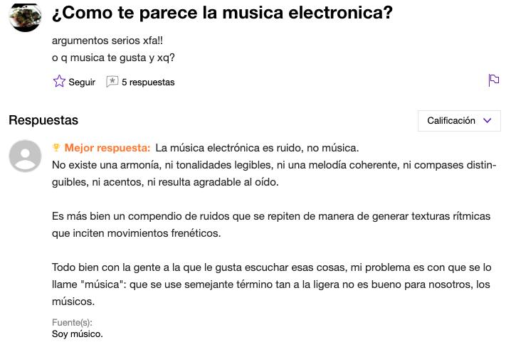 1- WTF con estas PREGUNTAS - ¿Cómo te parece la música electrónica?