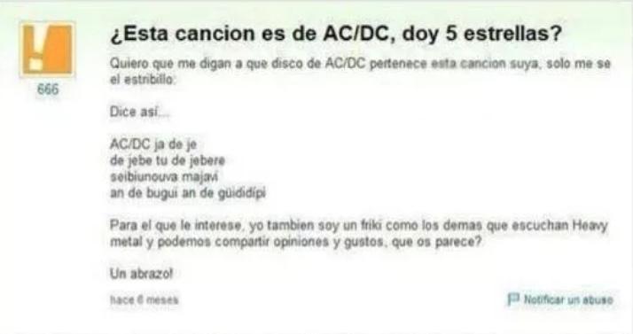 11- WTF con estas PREGUNTAS - Esta canción es de AC/DC