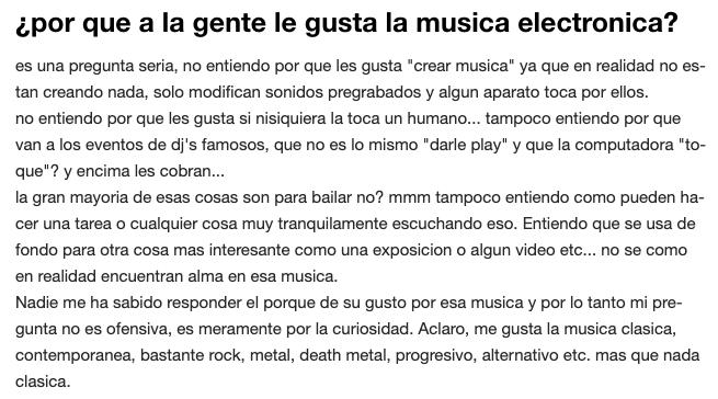 3- WTF con estas PREGUNTAS - ¿Por que a la gente le gusta la música electrónica?