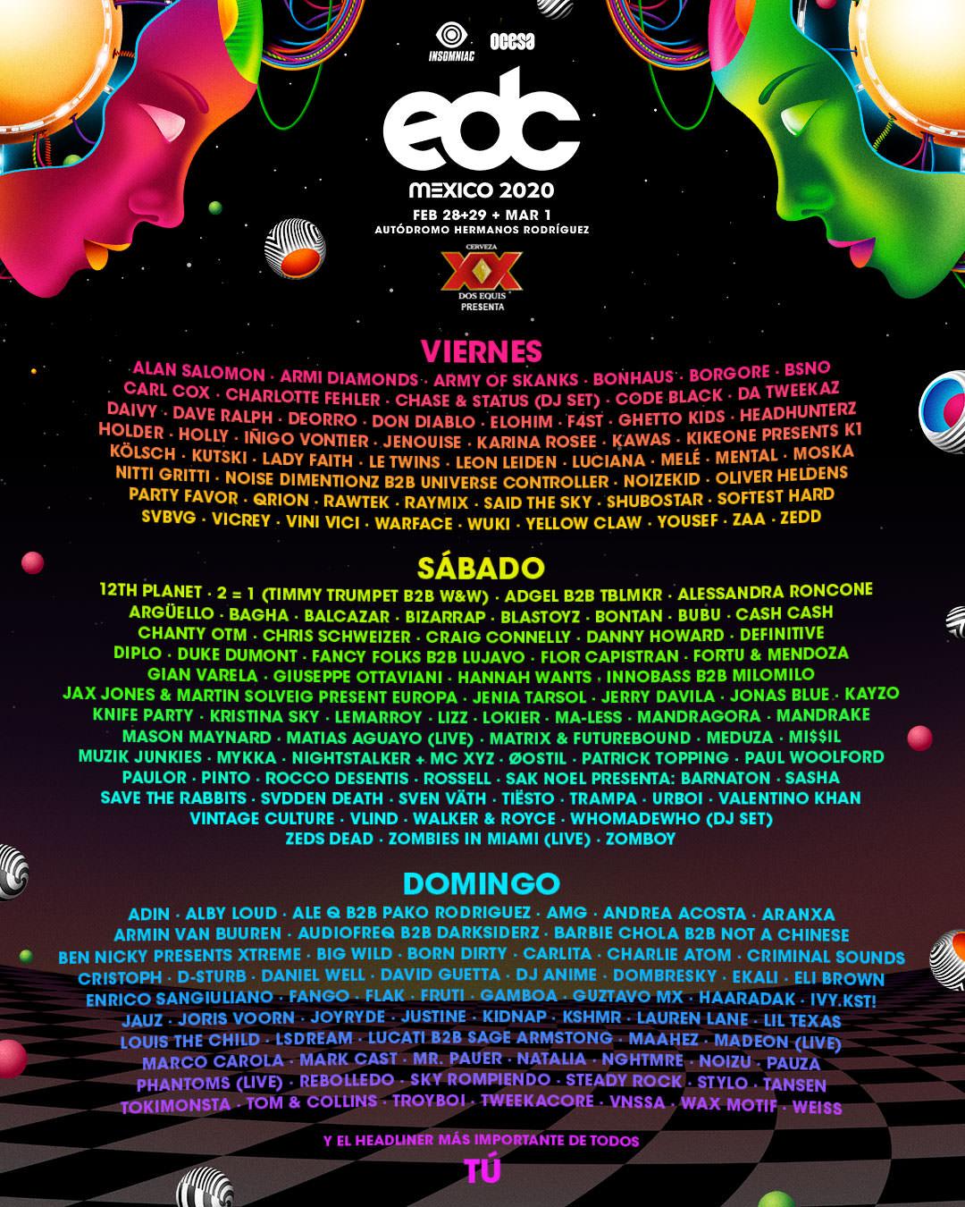 EDC México 2020 Lineup Completo