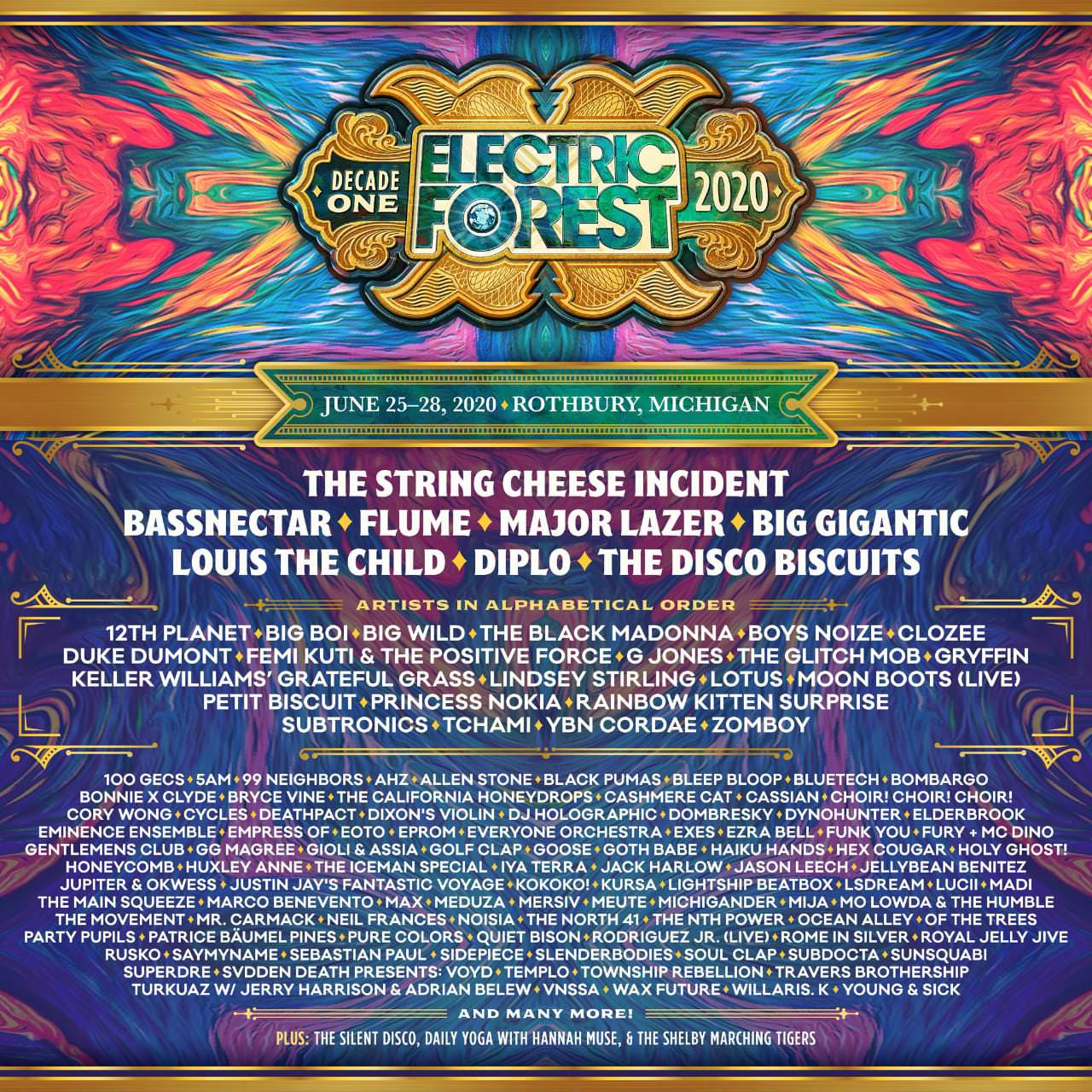 Electric Forest 2020 lineup