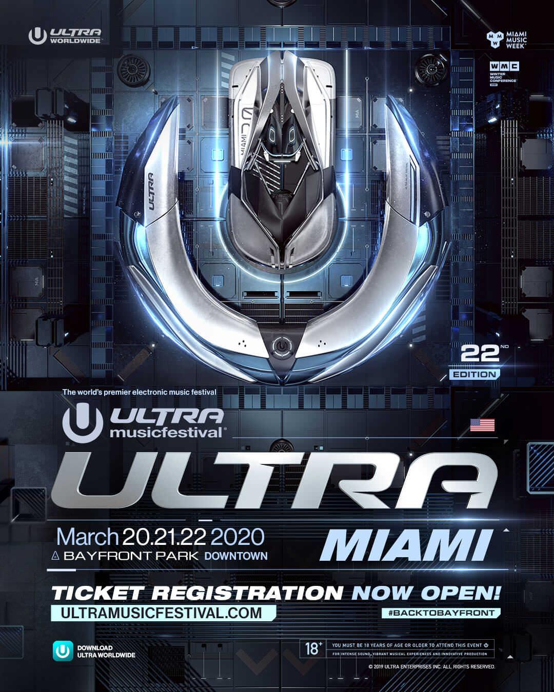Ultra Music Festival Miami 2020 Lineup Completo