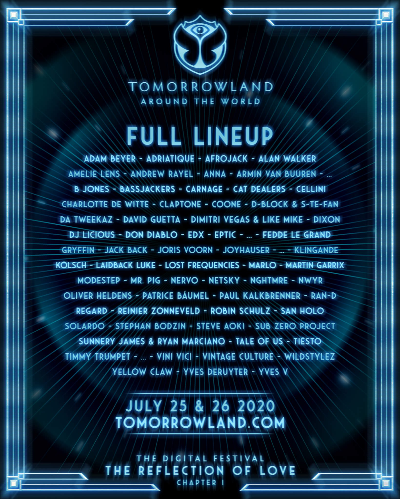 Lineup Tomorrowland 2020