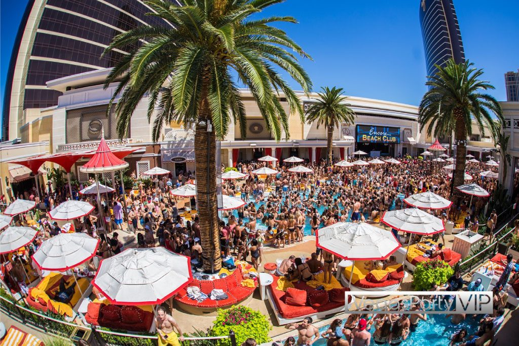 Encore Beach Club Night Swim parties